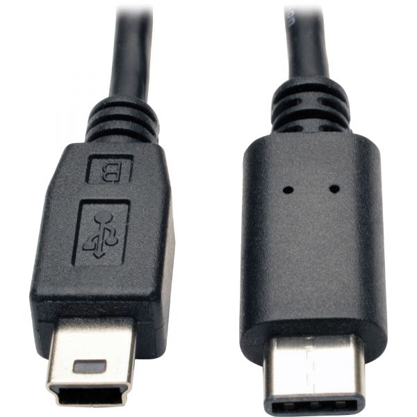 Tripp Lite USB 2.0 Hi-Speed Cable (5-Pin Mini-B Male to USB Type-C USB-C Male), 6-ft
