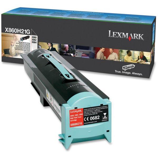 Lexmark X860H21G Black High Yield Toner Cartridge