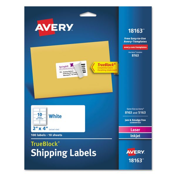 "Avery 2"" x 4"" Shipping Labels"