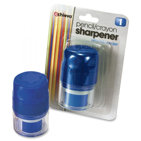 Officemate Manual Pencil/Crayon Sharpener with Cap
