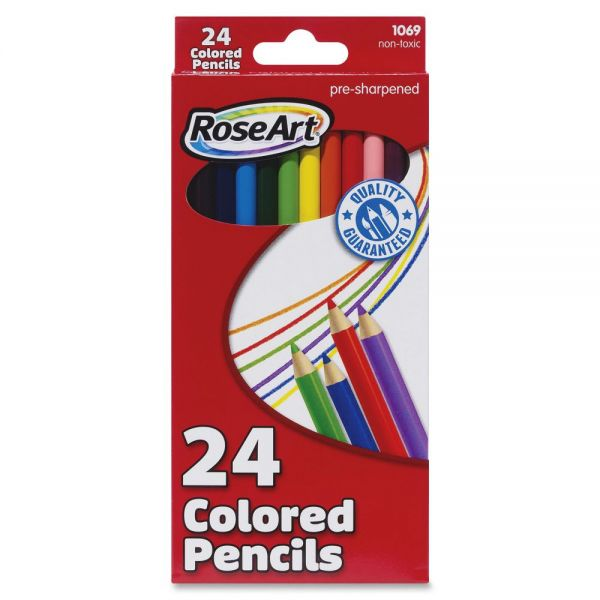 RoseArt Pre-sharpened 24 Colored Pencils