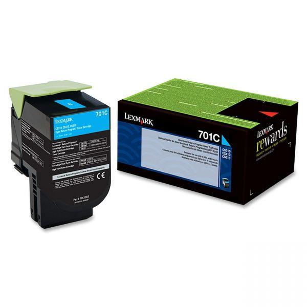 Lexmark 701C Cyan Return Program Toner Cartridge (70C10C0)