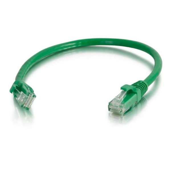 C2G 6in Cat5e Snagless Unshielded (UTP) Network Patch Cable - Green