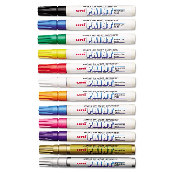 Uni-Ball Uni-Paint Oil-Base Medium Line Markers