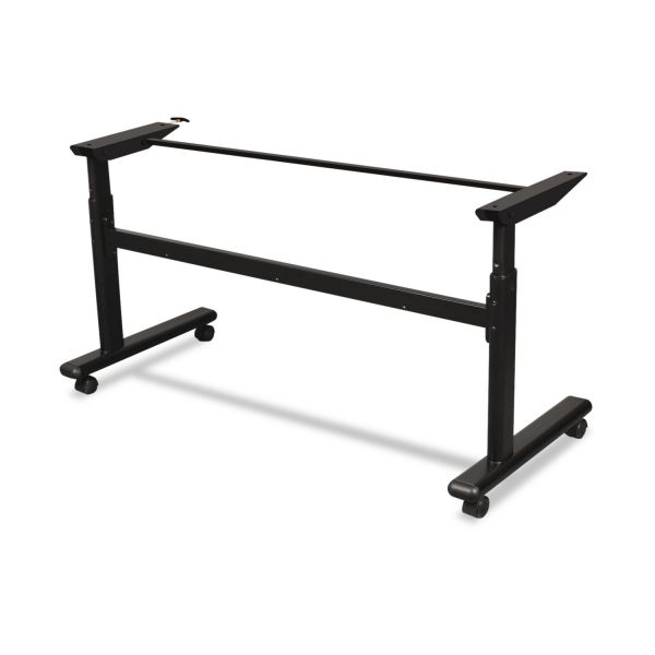 BALT Height-Adjustable Flipper Table Base, 72w x 24d x 28-1/2 to 45h, Black