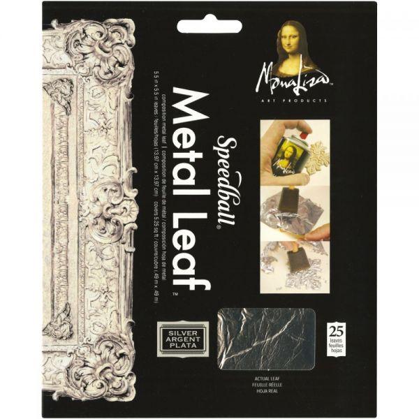 "Mona Lisa Metal Leaf Sheets 5.5""X5.5"" 25/Pkg"