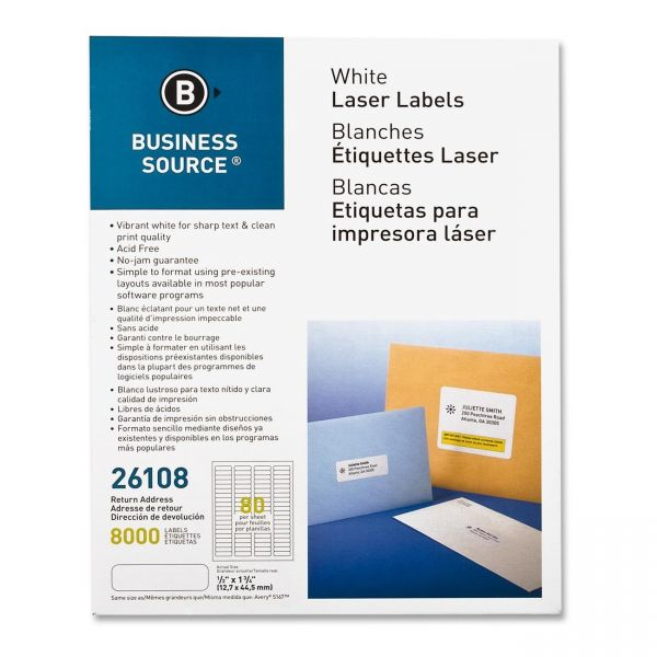 Business Source Return Address Labels