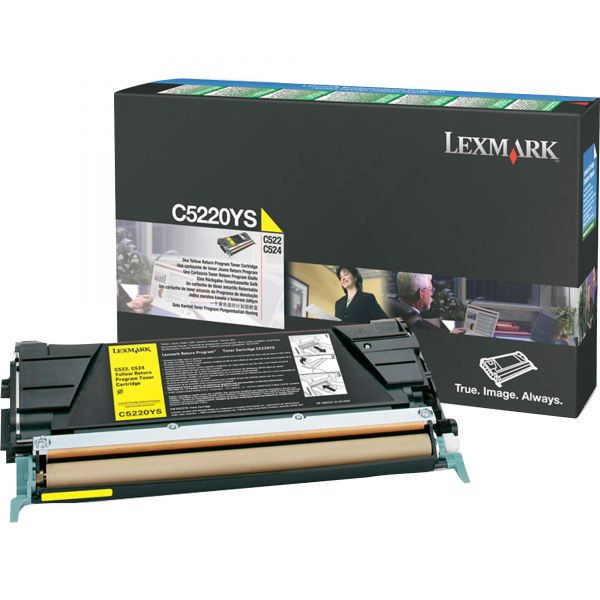 Lexmark C5220YS Yellow Return Program Toner Cartridge