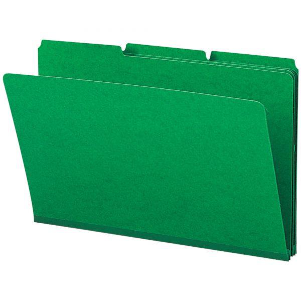 Smead Green Colored Pressboard File Folders