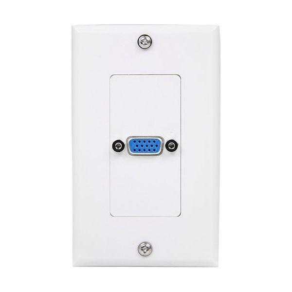 StarTech.com Single Outlet 15-Pin Female VGA Wall Plate - White
