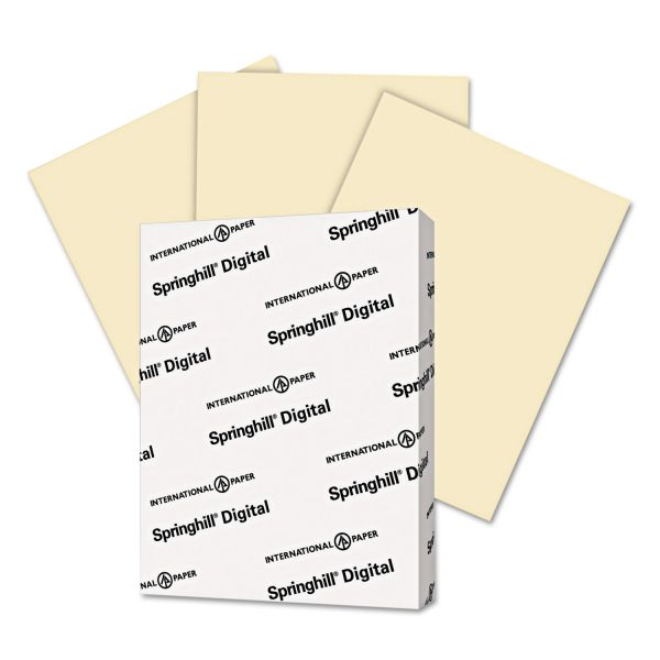 Springhill Digital Index Color Card Stock, 90 lb, 8 1/2 x 11, Ivory, 250 Sheets/Pack