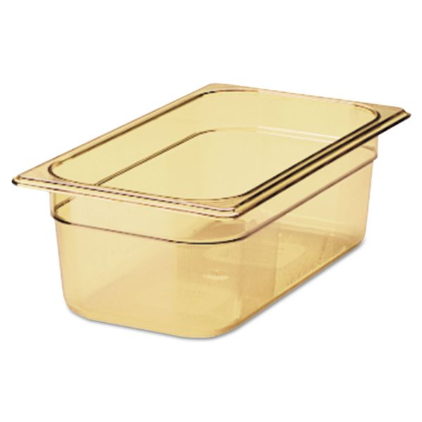 Rubbermaid Commercial Hot Food Pan, 4qt, 6 7/8w x 12 4/5d x 4h, Amber