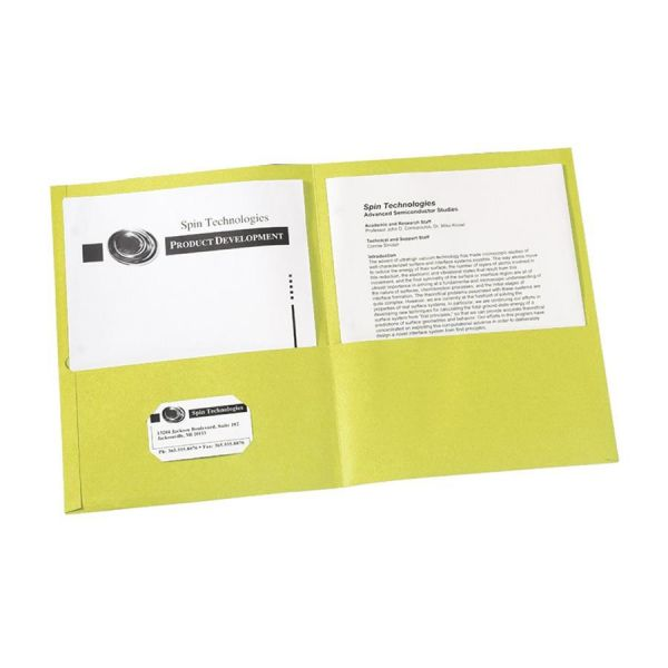 Avery Yellow Two Pocket Folders