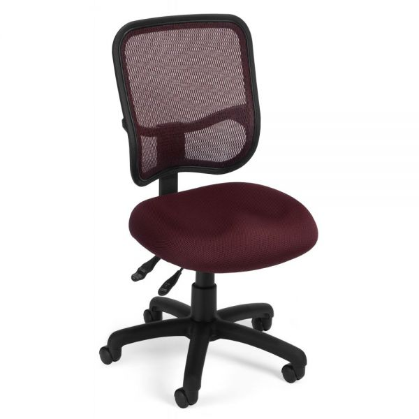 OFM Comfort Series Ergonomic Swivel Armless Task Chair
