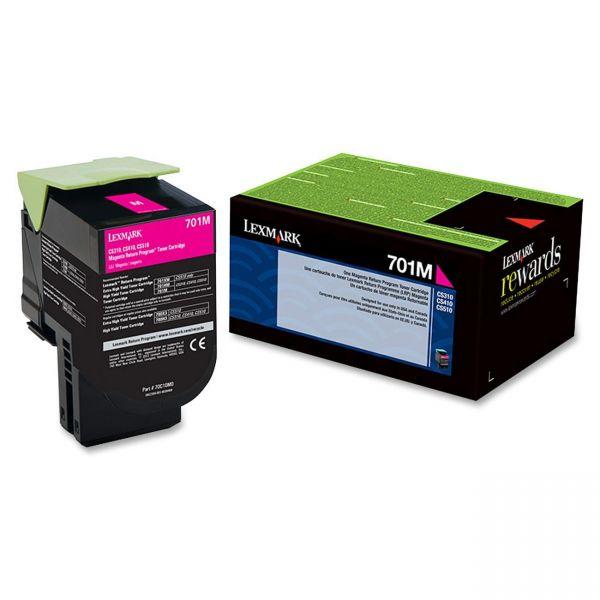 Lexmark 701M Magenta Return Program Toner Cartridge (70C10M0)