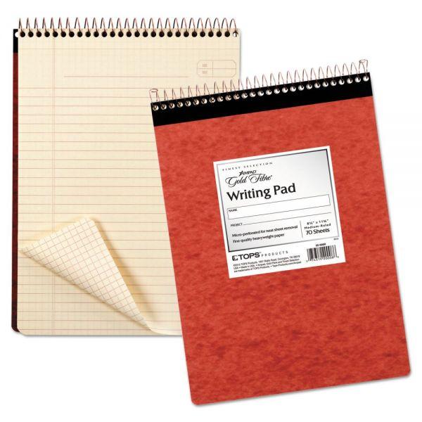 Ampad Gold Fibre Retro Wirebound Writing Pad, Legal, 8 1/2 x 11 3/4, Ivory, 70 Sheets