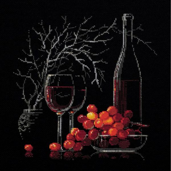Riolis Still Life With Red Wine Counted Cross Stitch Kit