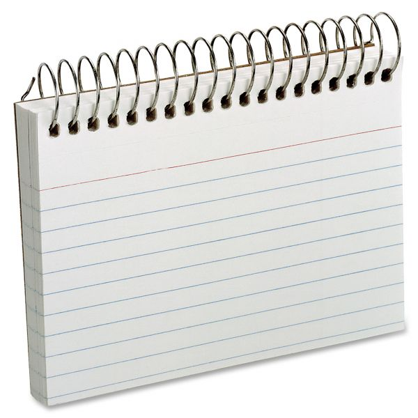 """Oxford 3"""" x 5"""" Ruled Spiral-Bound Index Cards"""