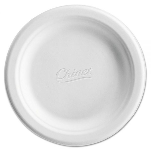 "Chinet Classic White 6.75"" Molded Fiber Plates"