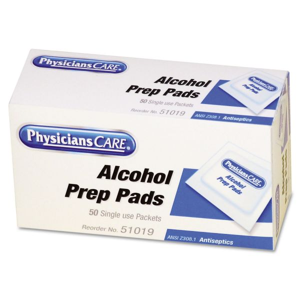 PhysiciansCare First Aid Alcohol Pad Refills