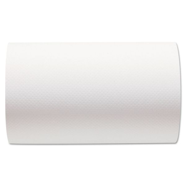 Georgia Pacific Professional Hardwound Paper Towel Roll, Nonperforated, 9 x 400ft, White, 6 Rolls/Carton