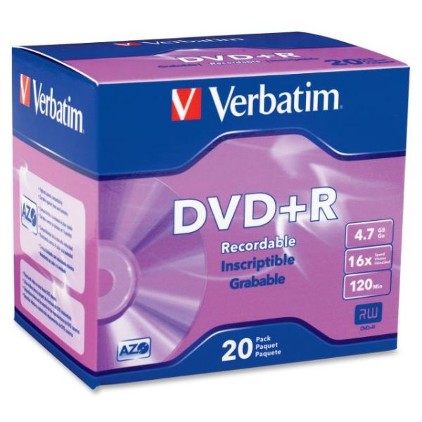 Verbatim Recordable DVD Media