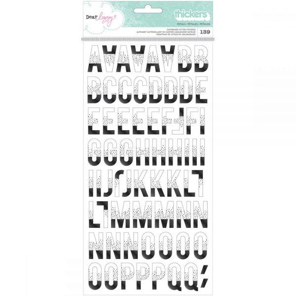 "Dear Lizzy Saturday Thickers Alpha Stickers 5.5""X11"" 2/Pkg"