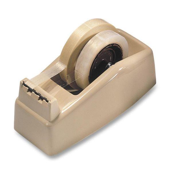"Scotch Two-Roll Desktop Tape Dispenser, 3"" Core, High-Impact Plastic, Beige"