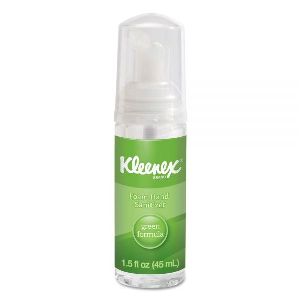 Kleenex Travel Size Green Certified Foam Hand Sanitizer