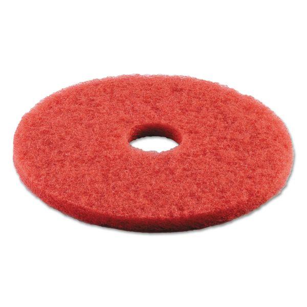 "Boardwalk Standard Buffing Floor Pads, 16"" Diameter, Red, 5/Carton"