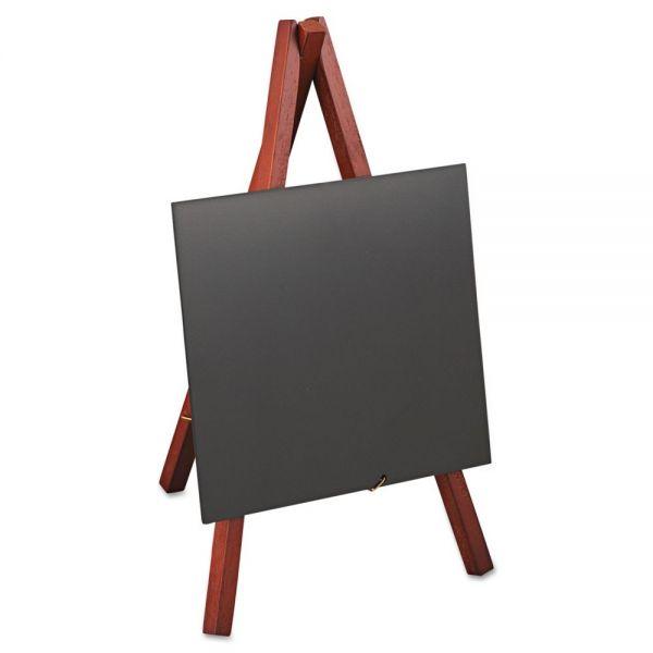 deflecto Wet Erase Signs, 5 7/8 x 5 1/4 x 9 1/2, Mahogany Frame