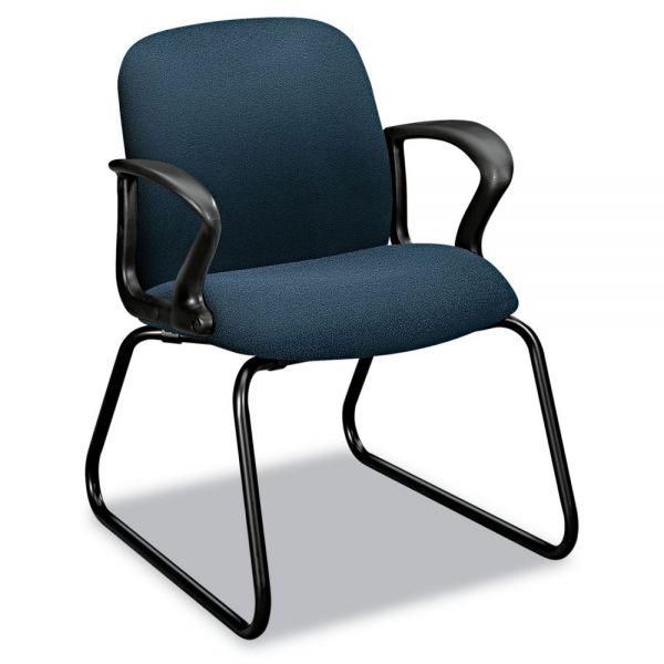 HON Gamut Series Sled Base Guest Chair, Cerulean