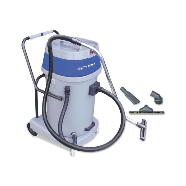 Mercury Floor Machines Storm Wet/Dry Tank Vacuum with Tools, Dual Motor, 20 Gallon Poly Tank, Gray