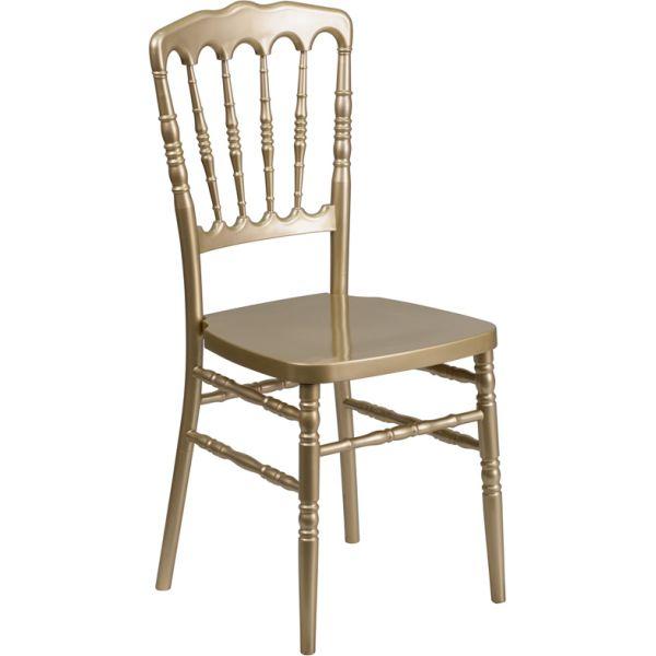 Flash Furniture Gold Resin Napoleon Chair