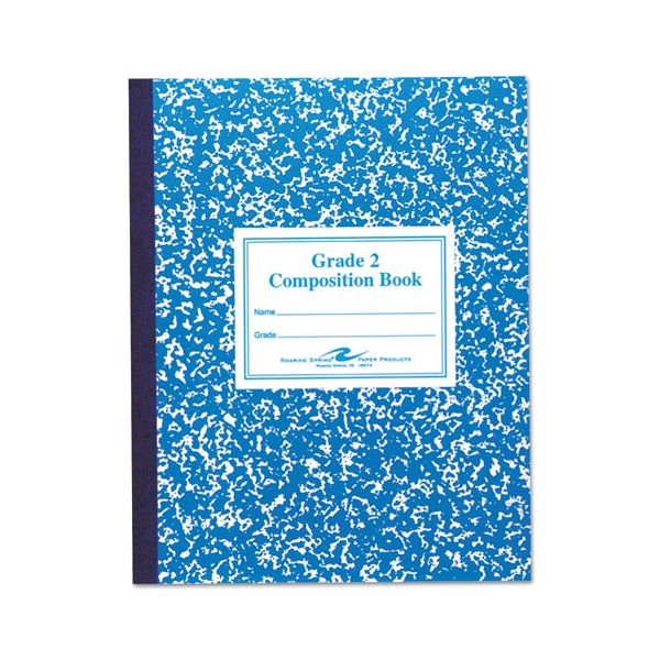 Roaring Spring Grade School Ruled Composition Book, 9 3/4 x 7 3/4, Blue Cover, 50 Pages