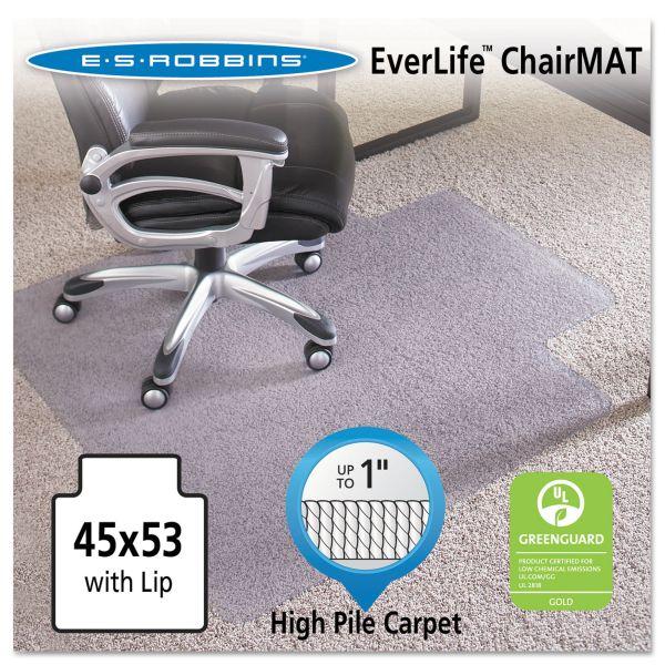 "ES Robbins 45x53 Lip Chair Mat, Performance Series AnchorBar for Carpet up to 1"""