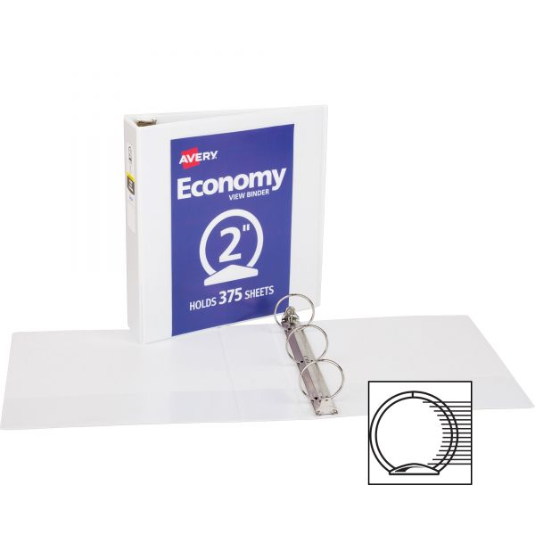 """Avery Economy Reference 2"""" 3-Ring View Binder"""