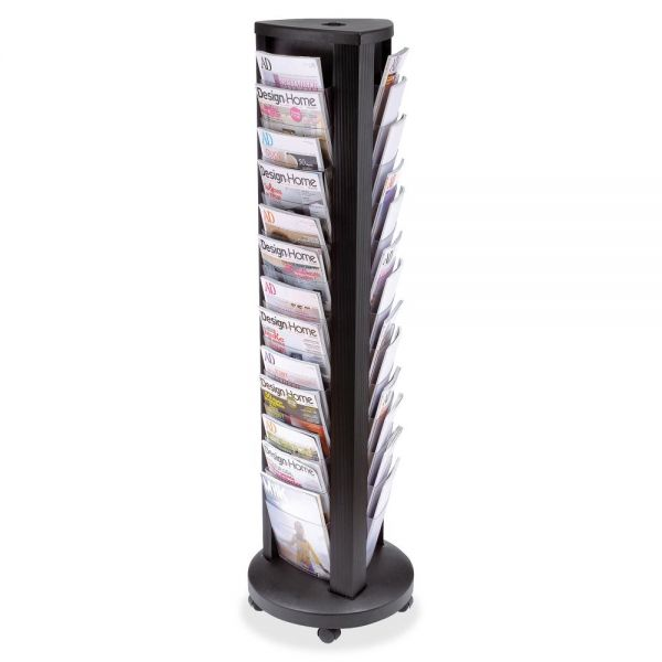 Alba 39-slot Carousel Floor Literature Display