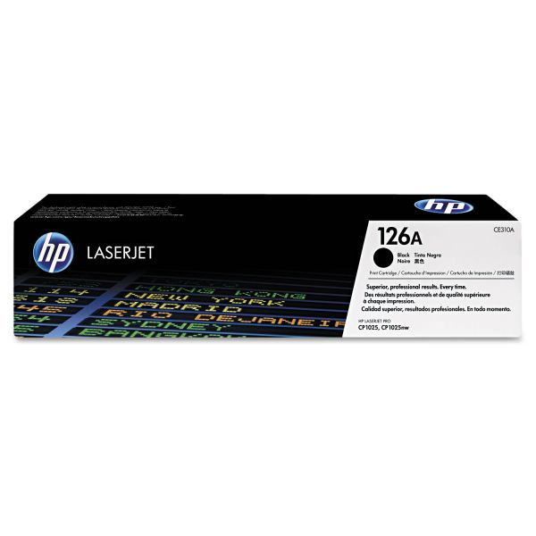 HP 126A Black Toner Cartridge (CE310A)