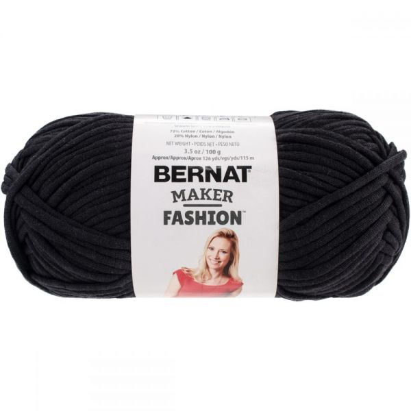 Bernat Maker Fashion Yarn - Black