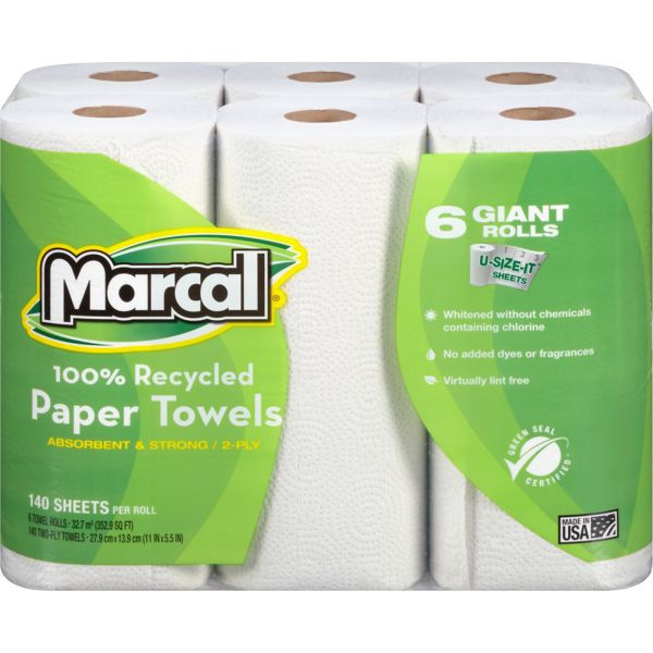 Marcal 100% Recycled, Giant Roll Paper Towels