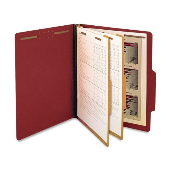 SJ Paper Red Pressboard Classification Folders
