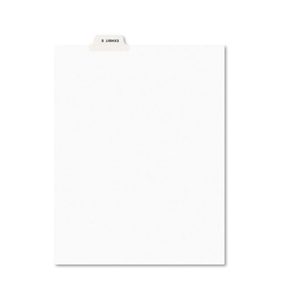 Avery-Style Preprinted Legal Bottom Tab Dividers, Exhibit S, Letter, 25/Pack