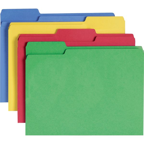 Smead Assortment CutLess Colored File Folders