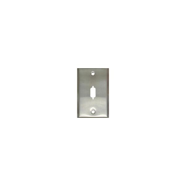 C2G VGA or DB9 D-Sub Port Single Gang Wall Plate - Stainless Steel