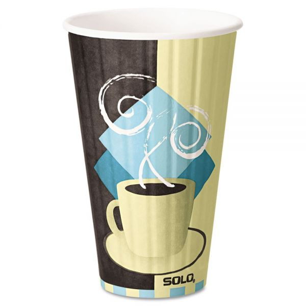 SOLO Duo Shield Insulated 16 oz Paper Coffee Cups
