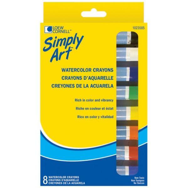 Simply Art Watercolor Crayons 8/Pkg