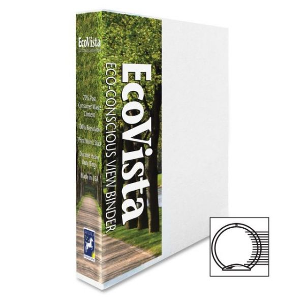 "Aurora EcoVista 1"" 3-Ring View Binder"