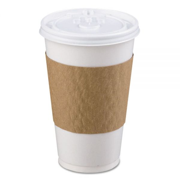 LBP The Sleeve Hot Cup Sleeve for 10-20 oz Cups, Paperboard, Brown, 1200/Carton