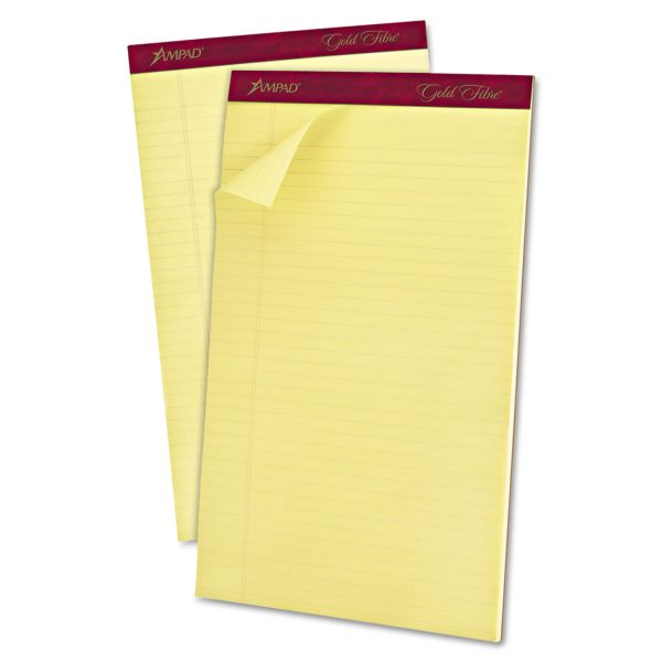 Ampad Gold Fibre Premium Yellow Legal Pads